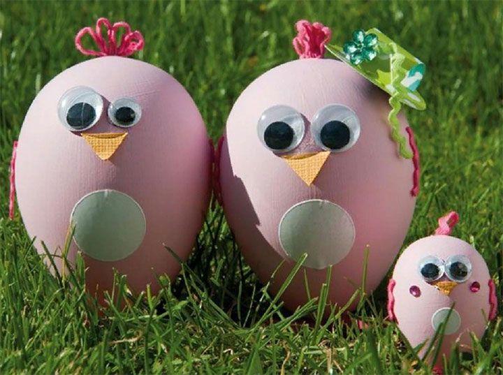 Цыплята из яичной скорлупы