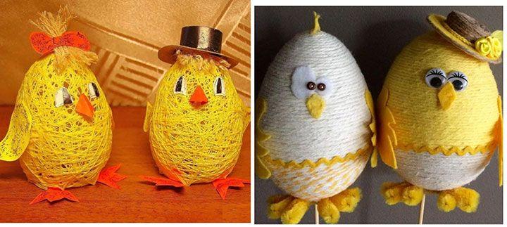 Цыплята из подручных материалов
