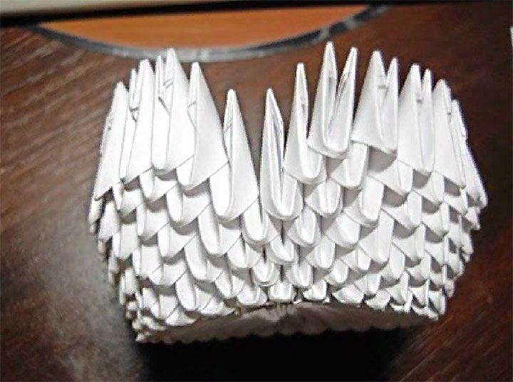 Схема оригами-лебедя