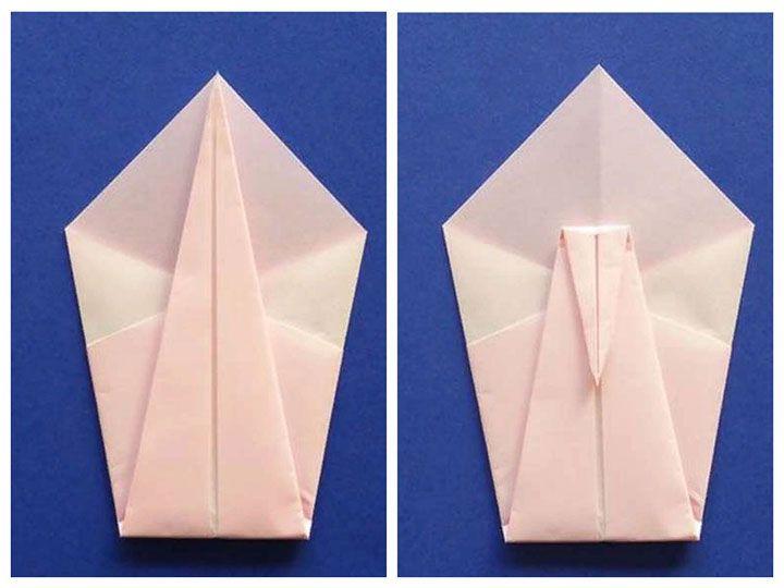 Схема лебедя-оригами