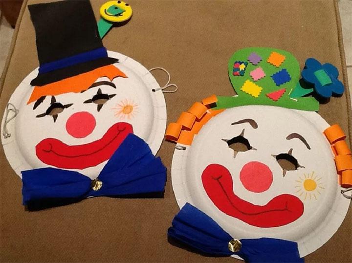 Маски для детей в виде клоуна