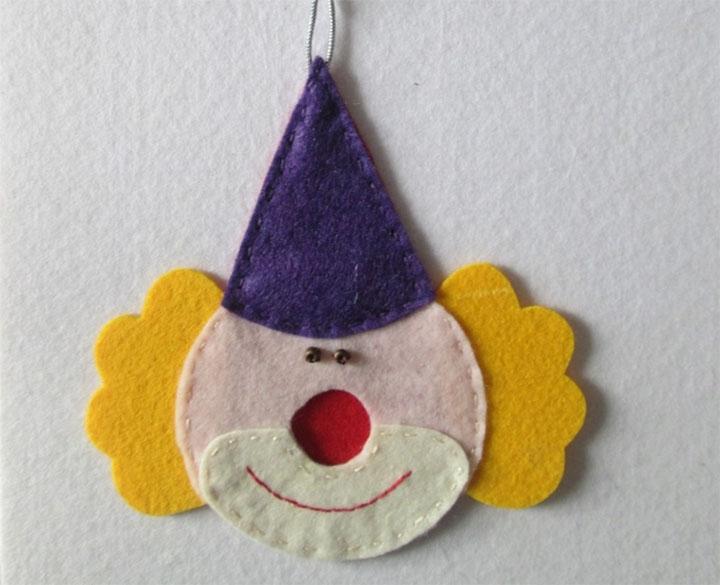 Клоун из фетра