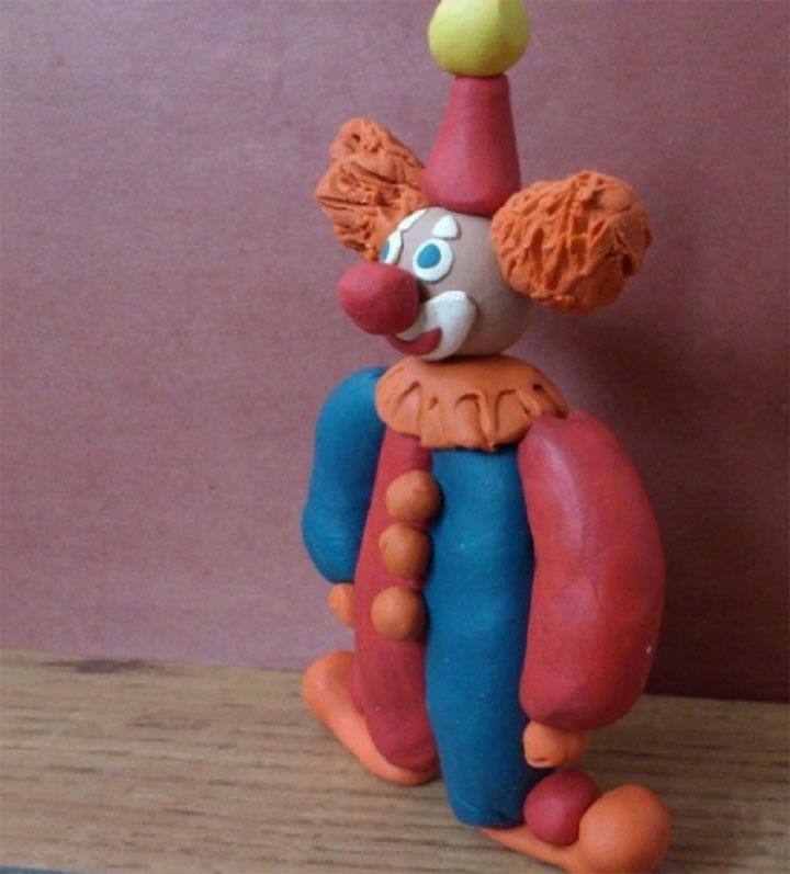 Пластилиновый клоун