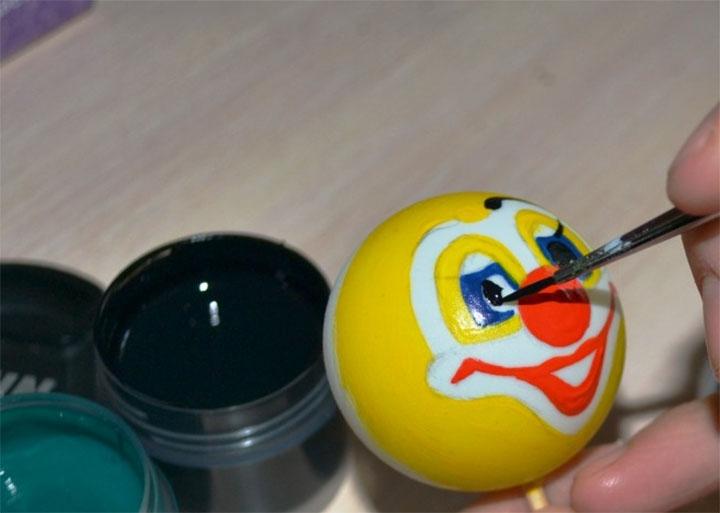 Этап изготовления клоуна кулечка