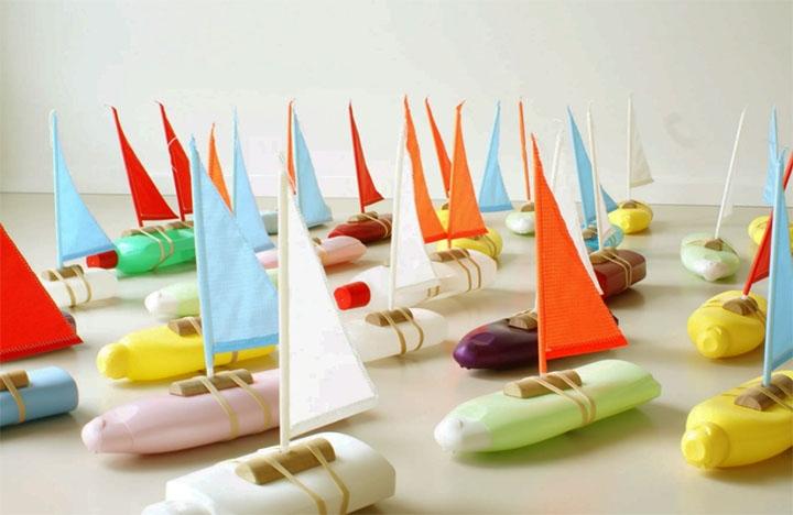 Кораблики из пластиковых бутылок
