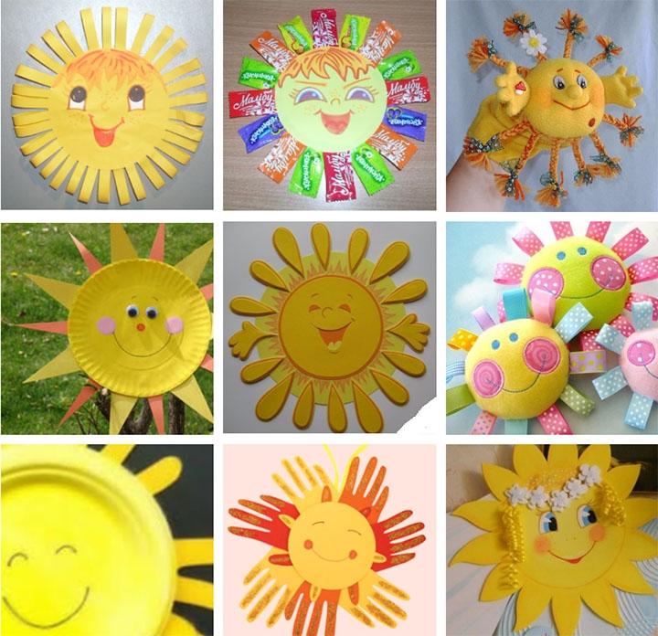 Поделки в виде солнца