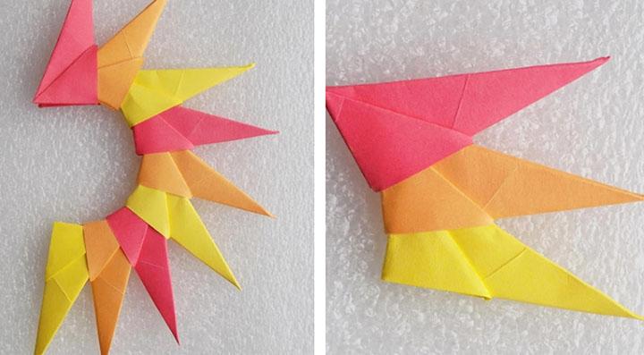 Изготовления солнышка-оригами