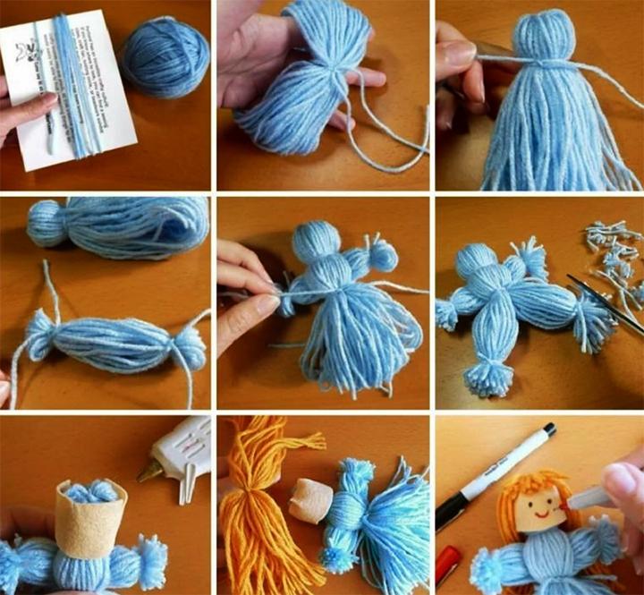 Изготовление куклы из ниток