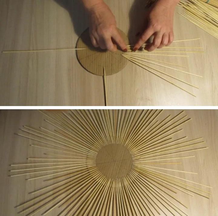 Изготовление рамки из шпажек