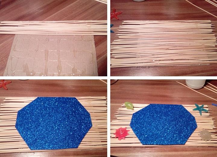 Изготовление поделки из шпажек