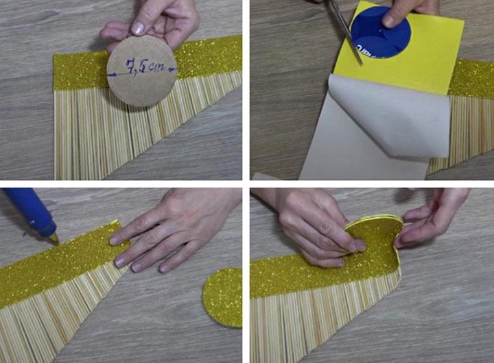 Изготовление вазы из шпажек
