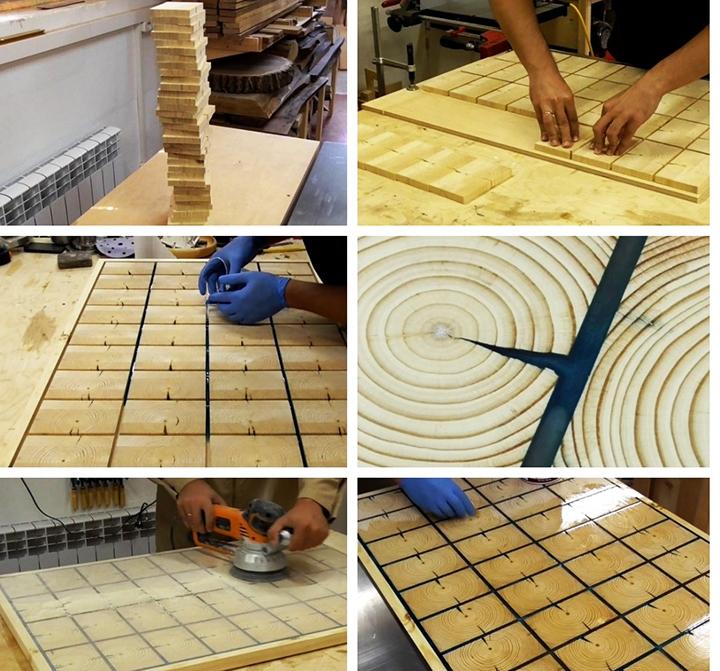 Изготовления столика из спилов