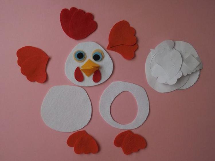 Поделка курица из фетра: изготовление