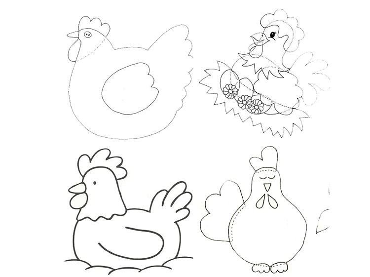 Аппликация курица своими руками