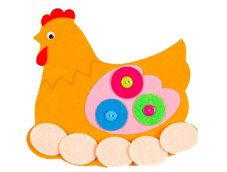 Аппликация курица: пошаговая инструкция