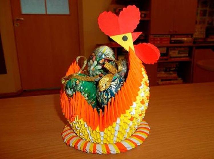 Модульная курица с яйцами своими руками